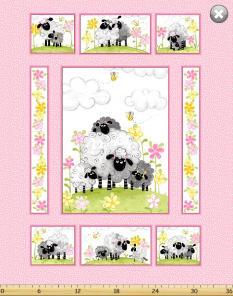 Lal the Lamb Panel Mama Lal