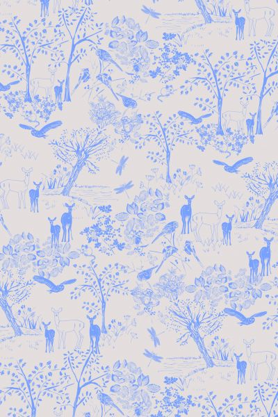 Fat Quarter Frenzy Other Wildlife Deer Lilac B25