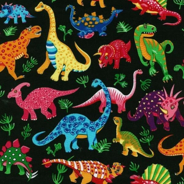 Fat Quarter Frenzy Children Dinosaurs