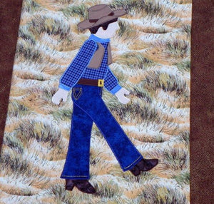 Jamie Plays Cowboys Quilt Kit3