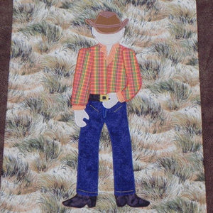 Jamie Plays Cowboys Quilt Kit4