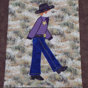 Jamie Plays Cowboys Quilt Kit5