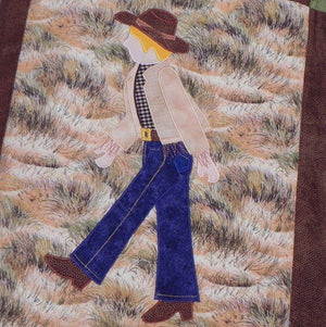 Jamie Plays Cowboys Quilt Kit6