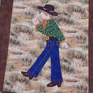 Jamie Plays Cowboys Quilt Kit7