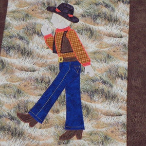 Jamie Plays Cowboys Quilt Kit8