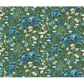 Fat Quarter Frenzy Other Lighthouse Wonders Flowers Blue