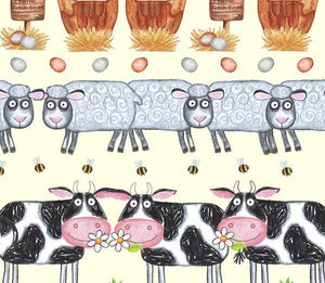 Fat Quarter Frenzy Children Barnyard Boogie Border