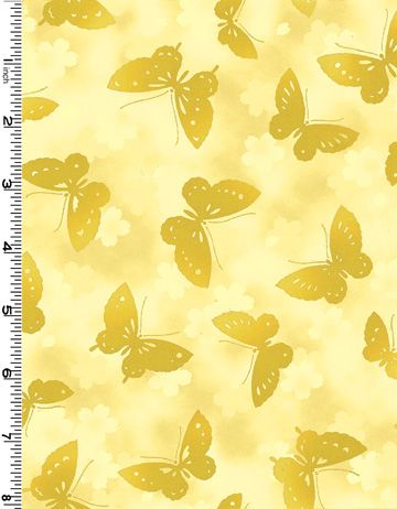 Fat Quarter Frenzy Other Kona Butterflies Yellow