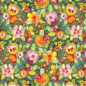 Fat Quarter Frenzy Other Fantasy Garden Flowers Multi