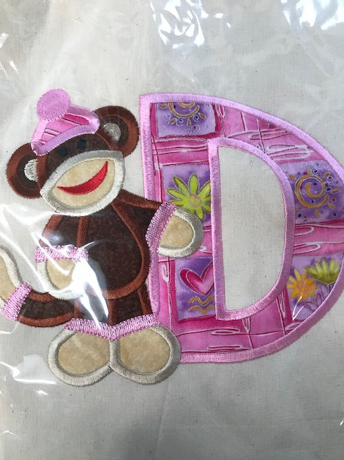 Embroidered Alphabet Bag D