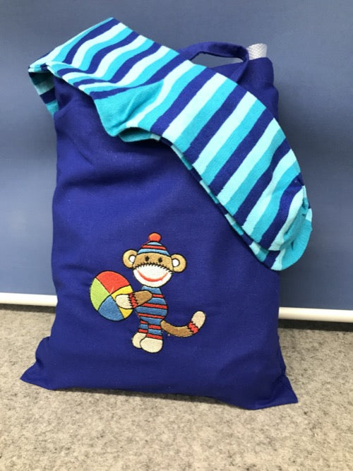 Sock Monkey Kit Blue
