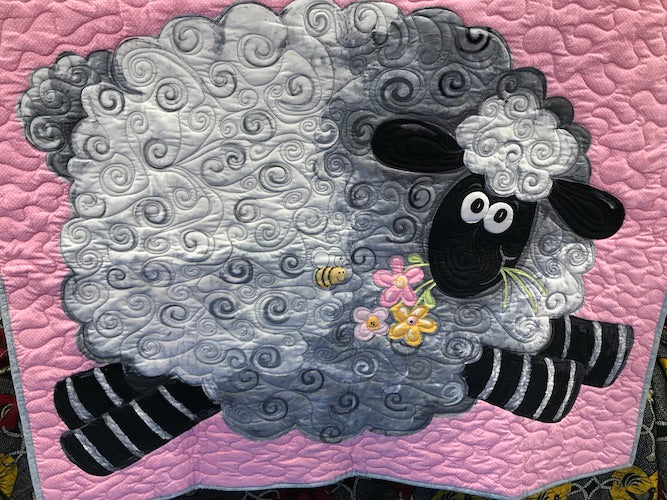 SB Finished Quilt Lal the Lamb Playmat