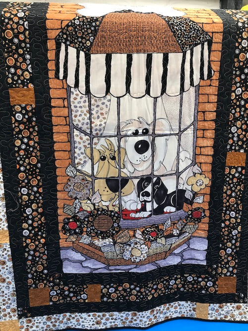 LD Finished Quilt Doggy in the Window