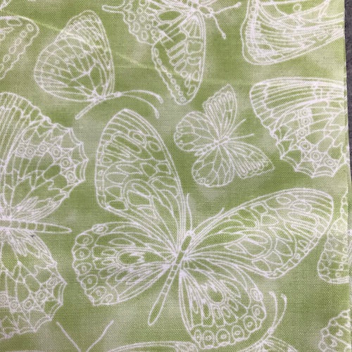 Fat Quarter Frenzy Other Lacy Lime Butterflies