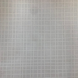 Wide Fabric Grid White
