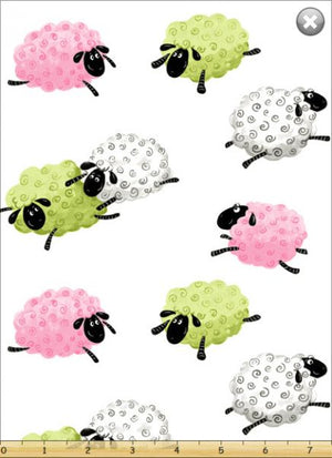 Fat Quarter Frenzy SusyBee Lal the Lamb Sheep Tossed