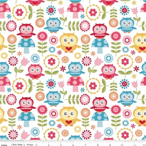 Fat Quarter Frenzy Children Fine and Dandy Large White
