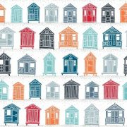 Fat Quarter Frenzy Seaside Makower Marina Beach Huts