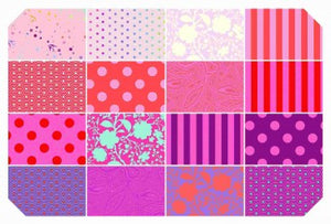 Precuts 16 Fat Quarters Tula Pink True Colours Flamingo