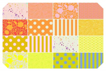 Precuts 16 Fat Quarters Tula Pink True Colours Goldfish