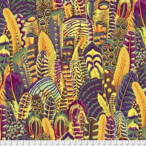Kaffe Fassett Feathers Gold