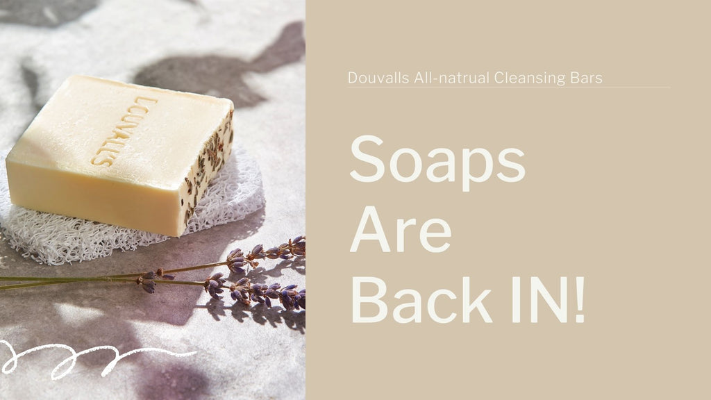 soaps are in, argan hydrating and cleansing soaps.