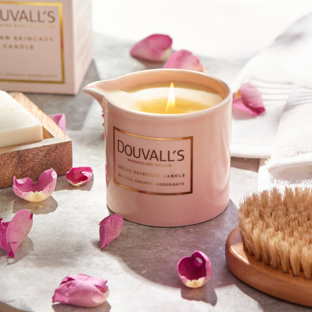 valentines gifts, skincare candle