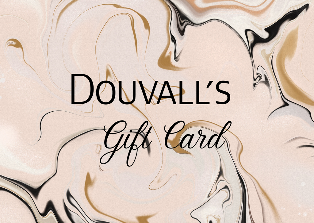 gift card, douvalls gift card, online gift card, ecommerce gift card, beauty gift card, skincare gift card.
