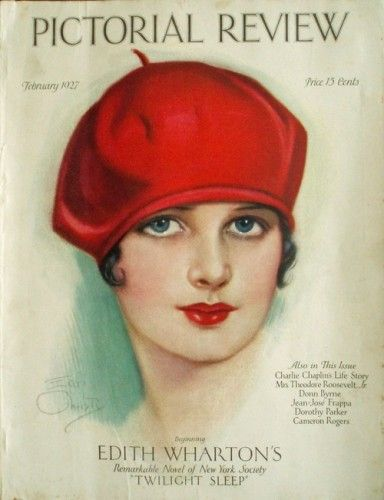 1920 woman wearing red beret