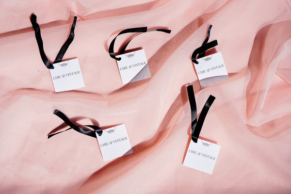 Chic and vintage clothing tags