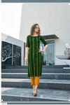 striped straight kurti