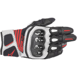 GUANTES  ALPINESTARS SPX AC V2  BLACK/WHITE/ RED FLUORESCENT
