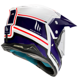 CASCO MT  SYNCHRONY DUOSPORT SV VINTAGE GLOSS PEARL WHITE BLUE RED