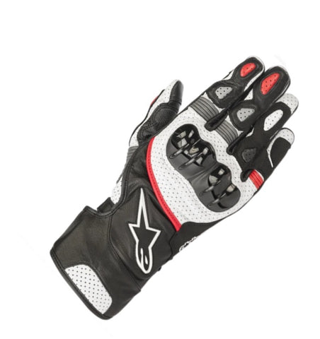 GUANTES ALPINESTARS  SP-2 V2 BLACK/WHITE/ RED