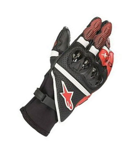 GUANTES  ALPINESTARS GPX BLACK / WHITE / BRIGHT RED