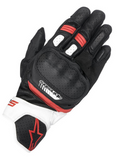 GUANTES  ALPINESTARS SP-5 BLACK/WHITE/RED