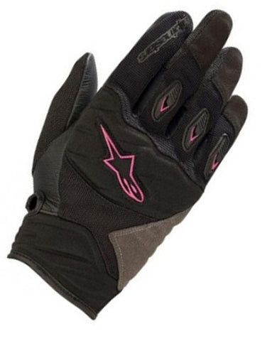 GUANTES ALPINESTARS WOMEN'S SHORE  BLACK/FUCHSIA