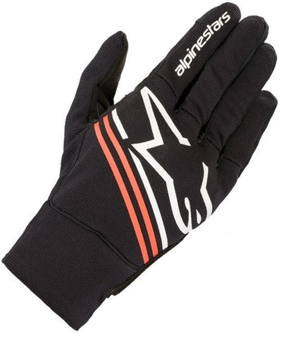 GUANTES  ALPINESTARS REEF BLACK WHITE RED FLUORESCENT