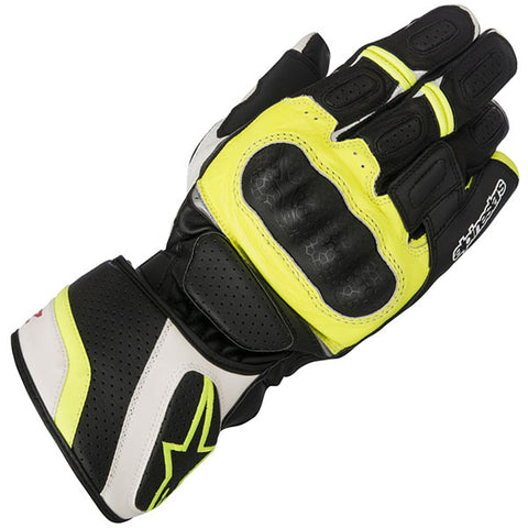 GUANTES ALPINESTARS  SP-Z DRYSTAR BLACK/WHITE/YELLOW FLUORESCENT