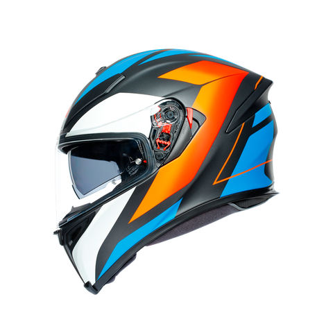 CASCO AGV  K5 S E2205 MULTI - CORE MATT BLACK/BLUE/ORANGE