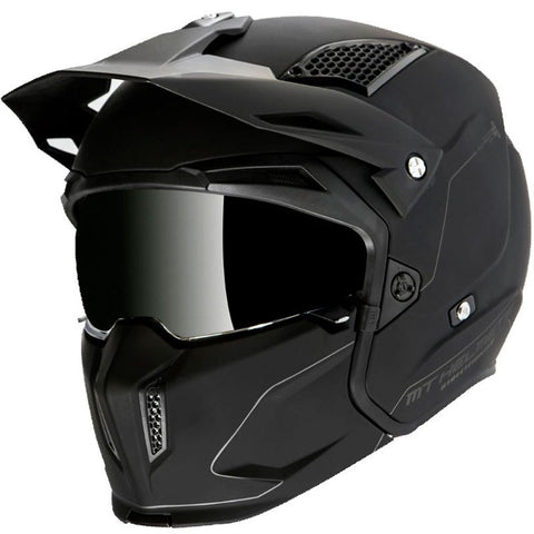 CASCO MT STREETFIGHTER SV SOLID A1 MATT BLAC