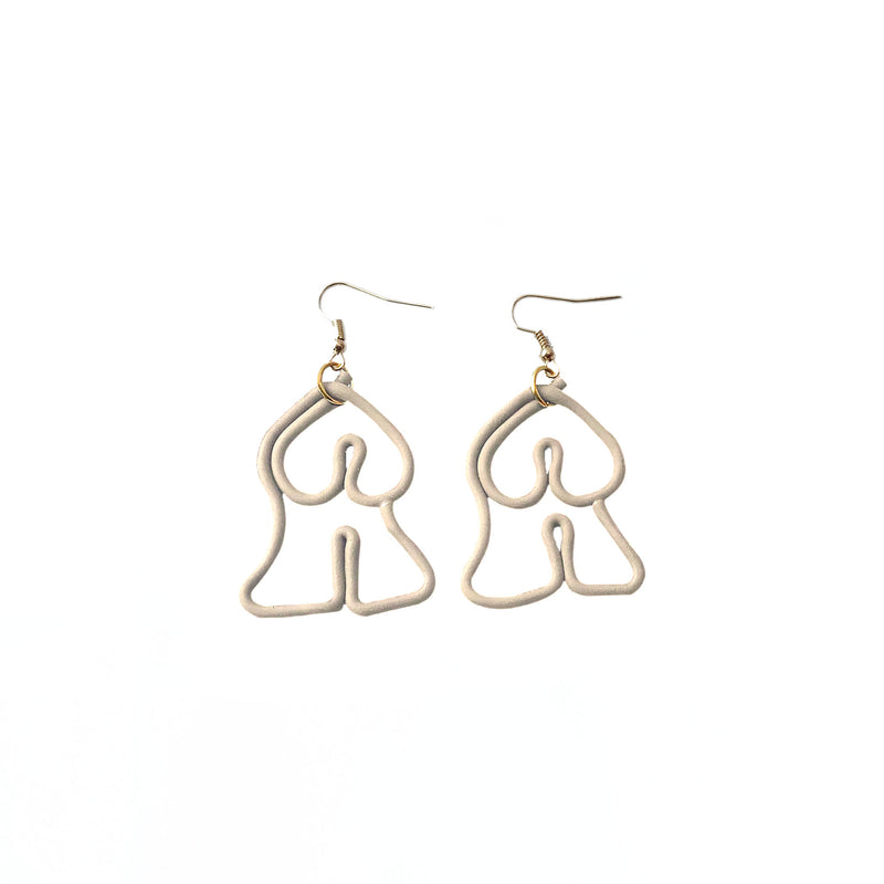Abstract Female Body Earrings