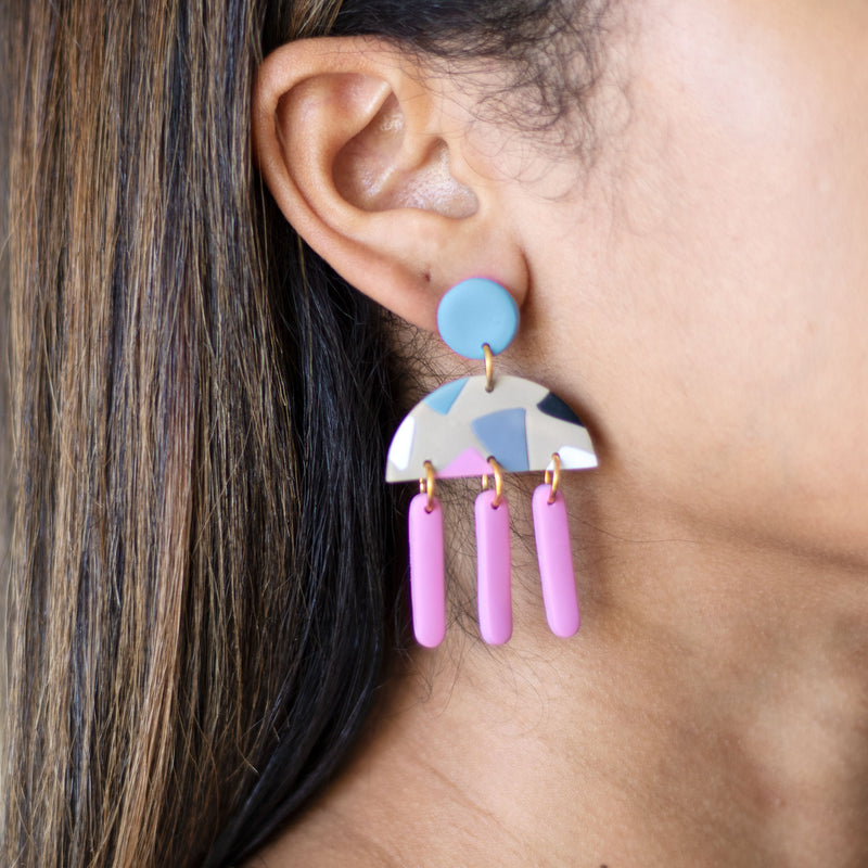 abstract colorful earrings