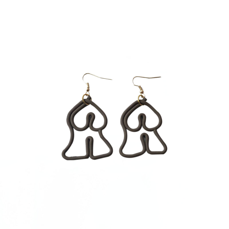 (Wholesale) Abstract Female Body Earrings