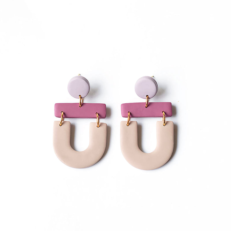 arch drop earrings