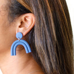 clay arch earrings