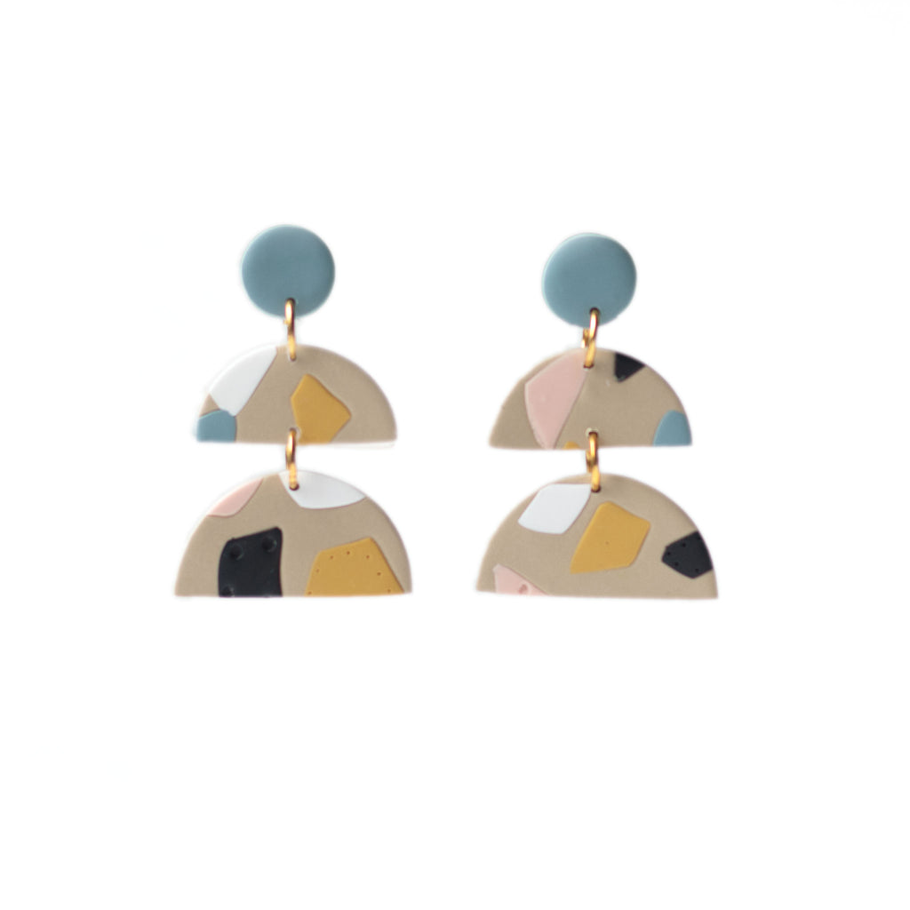 colorful modern dangle earrings