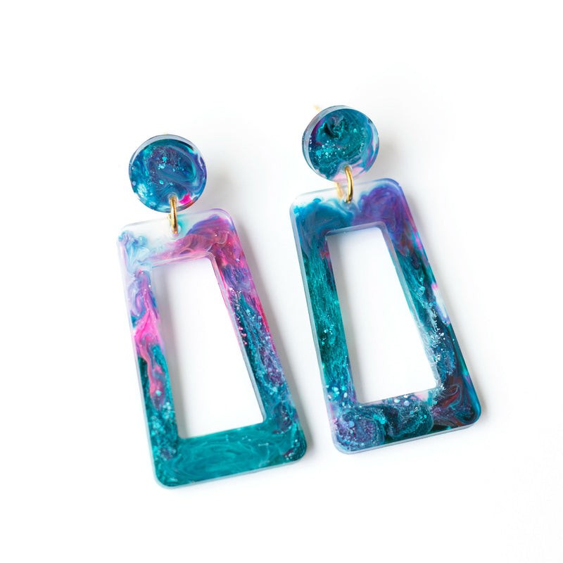 galaxy dangle earrings