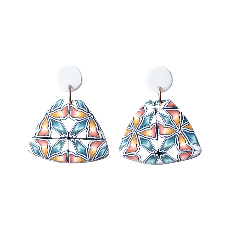 spanish tile earrings