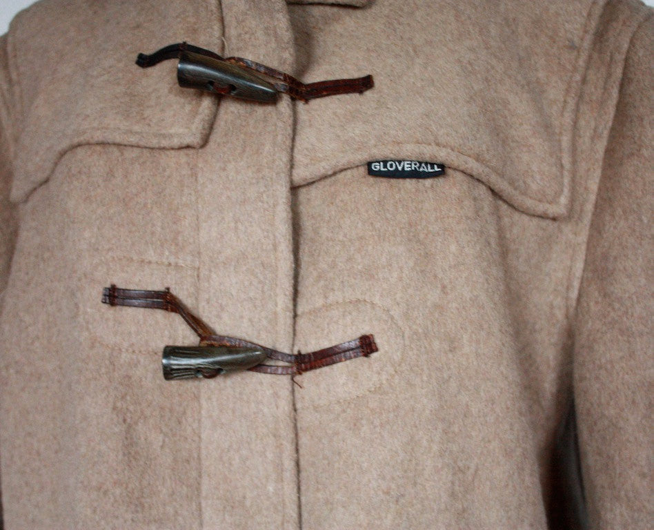 ORIGINAL 1960&39s Hooded Brown Wool GLOVERALL Duffle coat made in